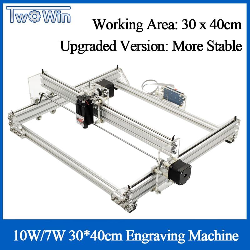 3040B 10W 7W Desktop DIY Violet Laser Engraving Machine Picture CNC Printer Engraver Working Area 40x30cm + Offline Controller