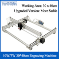 3040B 10W 7W Desktop DIY Violet Laser Graveermachine Foto CNC Printer Graveur Werkgebied 40x30cm + Offline Controller