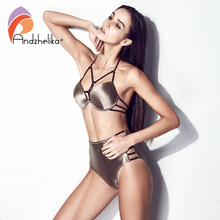Bandage Push Up Brazilian Three Piece Bathing Suit