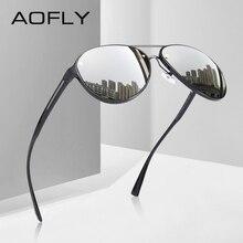 AOFLY تصميم العلامة التجارية الطيار النظارات الشمسية الرجال الاستقطاب القيادة نظارات UV400 فريد البيضاوي إطار نظارات Gafas دي سول AF8115