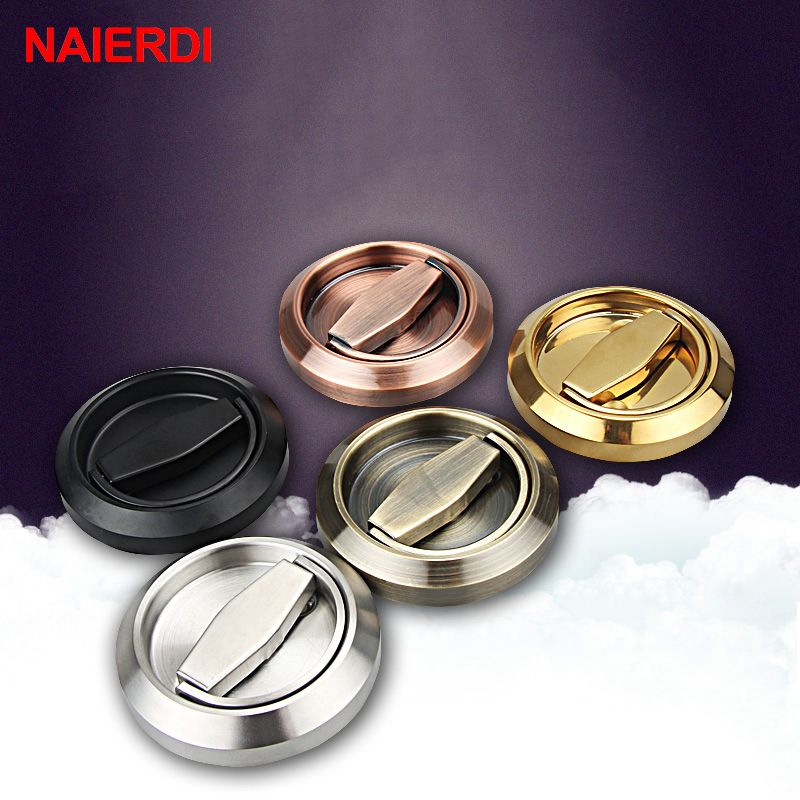 NAIERDI 304 Stainless Steel Handle Locks Hidden Recessed Invisible Pull Fire Proof Door Handles Cabinet Knobs Furniture Hardware