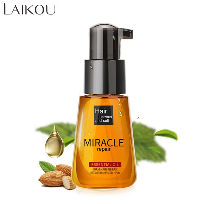 LAIKOU Pure Natural Argan Oil Hair Oil Repair Damaged Hair Serum Treatment Scalp Moisturizing Make Hair Shiny And Softness 70ml