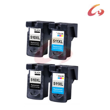 4pcs Ink Cartridge for Canon PG510 PG-510 PG 510 510XL XL Large Capacity for Canon Pixma MP240 MP250 MP260 MP270 MP280 MP480 240