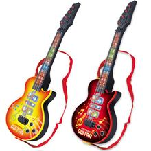 Children Music Guitar Creative Acoustic Bass Infrared Induction Cartoon LED Educational Instrument
