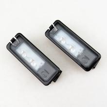 цена на READXT 2Pcs Car LED License Plate Light bulb 12V Lamp For VW Golf 7 MK7 Passat 3C EOS Beetle Polo 6R Scirocco Beetle 35D943021A
