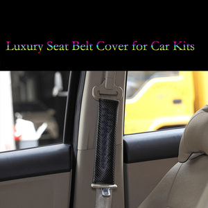 Image 2 - Universal Car Seat Belt Cover Shoulders Fibers Leather Texture Relieve Fatigue for BMW Honda Audi Subaru Luxury Car Covers