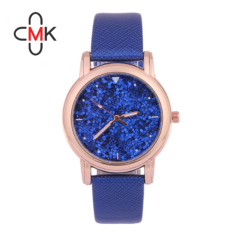 CMK Brand Watch Women Dress Watches Luxury Fashion Rhinestone Glittering Leather Quartz Watch Ladies Watch Hour montre femme casada w 2 13 cmk 402 href
