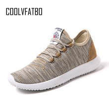 COOLVFATBO Men Casual Shoes Breathable Lightweight Flats