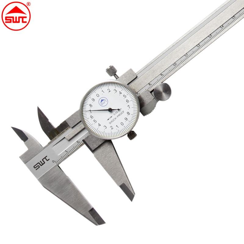 цена на Dial Caliper 8 0-200mm/0.02 Stainless Steel Shock-proof Metric Measurement Gauge Vernier Caliper Measuring Tool