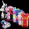 For Samsung Galaxy A7 E7 J7 HOT 3D Silicon Iron-Man Minnie Stitch Cupcake Unicorn Elmo Cartoon Soft Phone Back Skin Cover Case