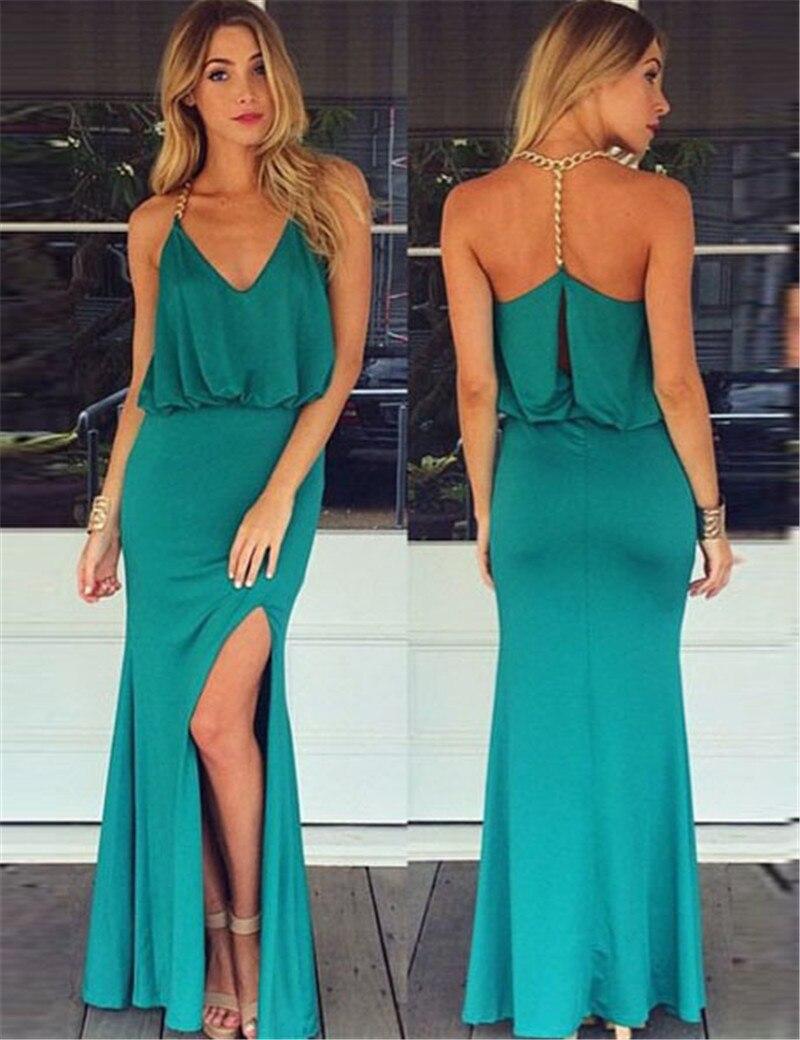 R80115 Top selling brand new boho dress fashion style sleeveless maxi dresses blue sexy halter draped 2 colors women dresses