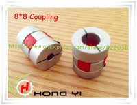 Free Shipping BF 8mm X 8mm CNC Flexible Plum Coupling Shaft Coupler D25 L30