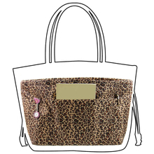 Extra Large Leopard Organizer Bag Purse Waterproof Oxford Cosmetic Organized Handbag