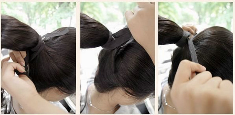 African American Ponytail Hairstyle Clip In Black Coarse Yaki
