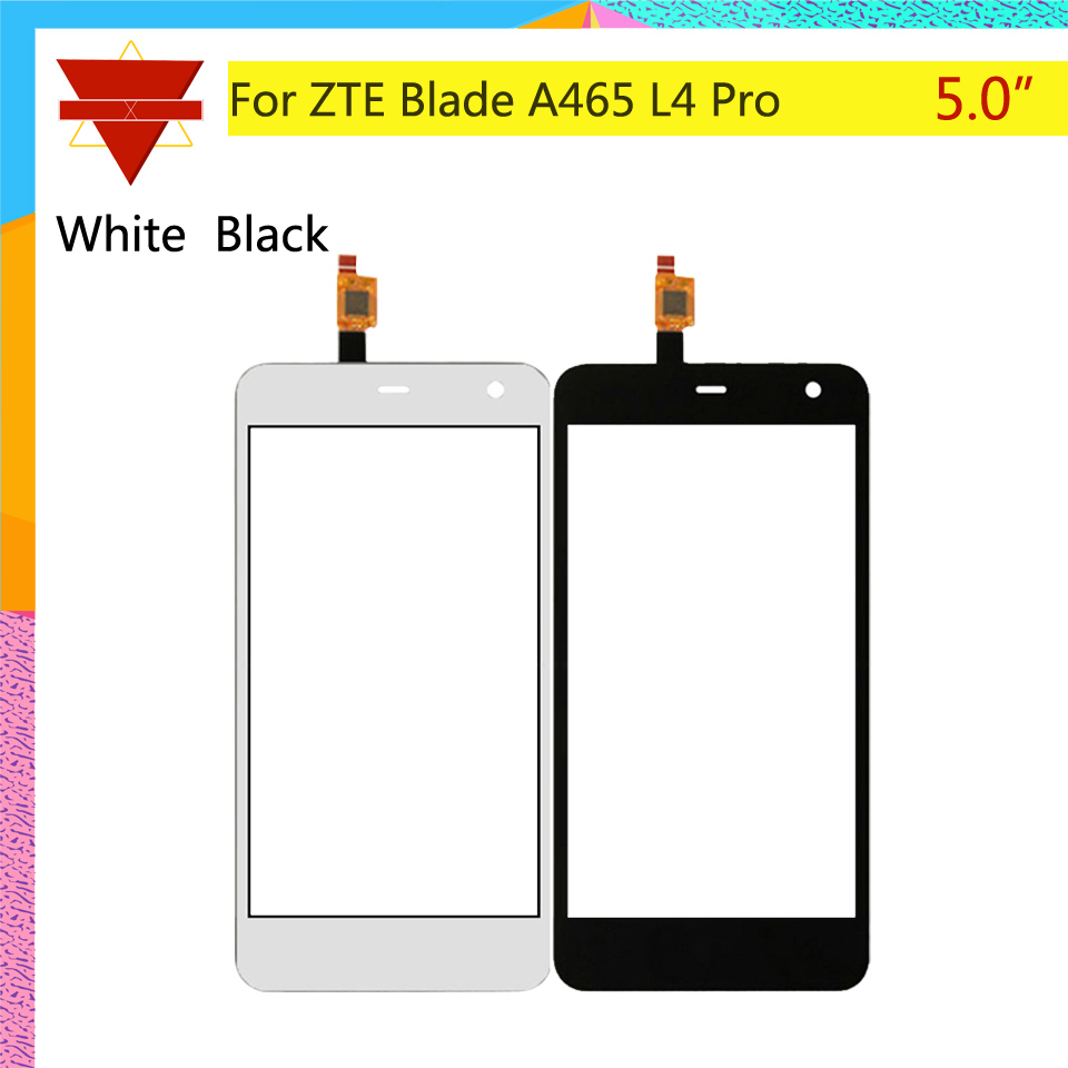 10Pcs/lot Touch Screen Digitizer For ZTE Blade A465 L4 Pro Touch Panel Touchscreen Lens Front Glass Sensor NO LCD A 465