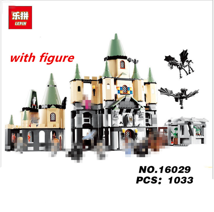 Lepin Harry Potter Hogwarts legoing Harry Potter Express Movie Series Magic Hogwort Castle 16029 5378  Magic Word Diagon Alley harry potter magical places from the films hogwarts diagon alley and beyond