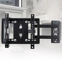 25KG Adjustable TV Wall Mount Bracket Flat Panel TV Frame Support 15° Tilt with Gradienter for 14 40 Inch LCD LED Monitor