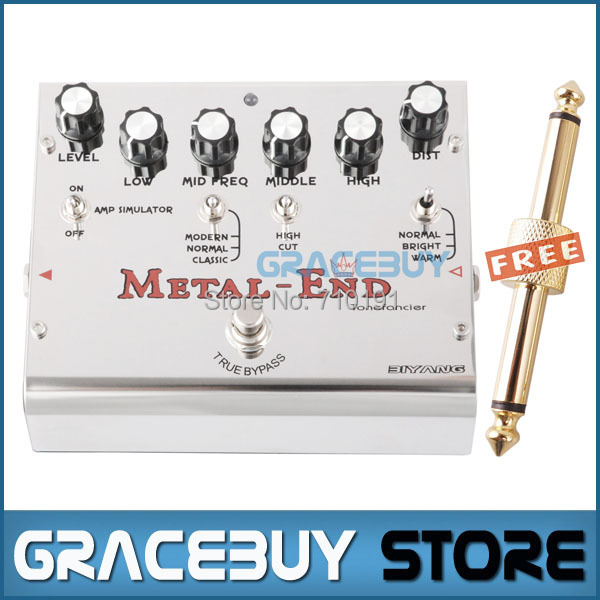 все цены на Biyang Tonefancier Metal End King Distortion Electric Guitar Effect Pedal True Bypass Brand New онлайн
