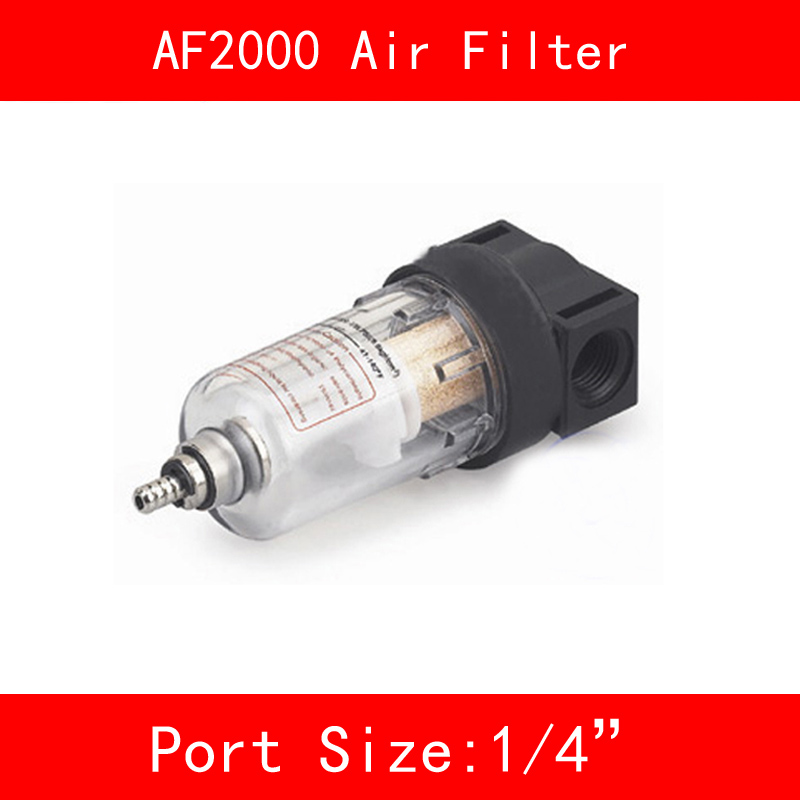 AF2000 Air Filter Port 1/4 Pneumatic Parts Air Filter Accessory Source Treatment Unit for Compressor Oil Water Separation ac4010 06 smc type 3 4 port air source treatment unit f r l combination
