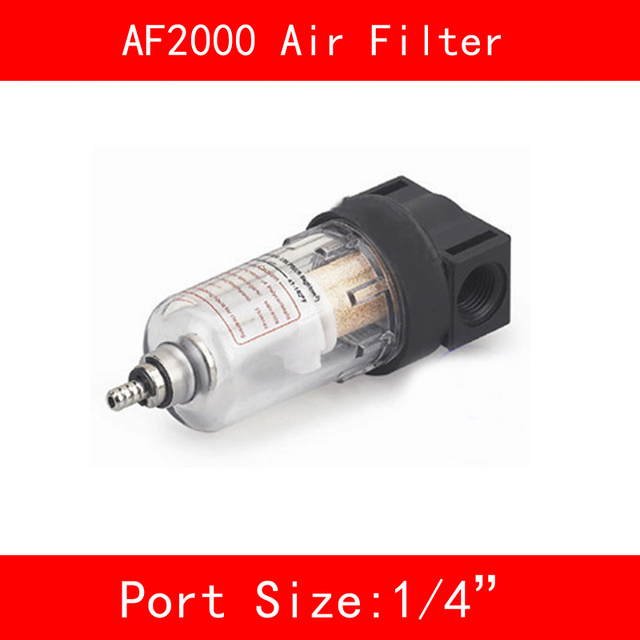"AF2000 Air Filter Port 1/4"" Pneumatic Parts Air Filter Accessory Source Treatment Unit for Compressor Oil Water Separation"