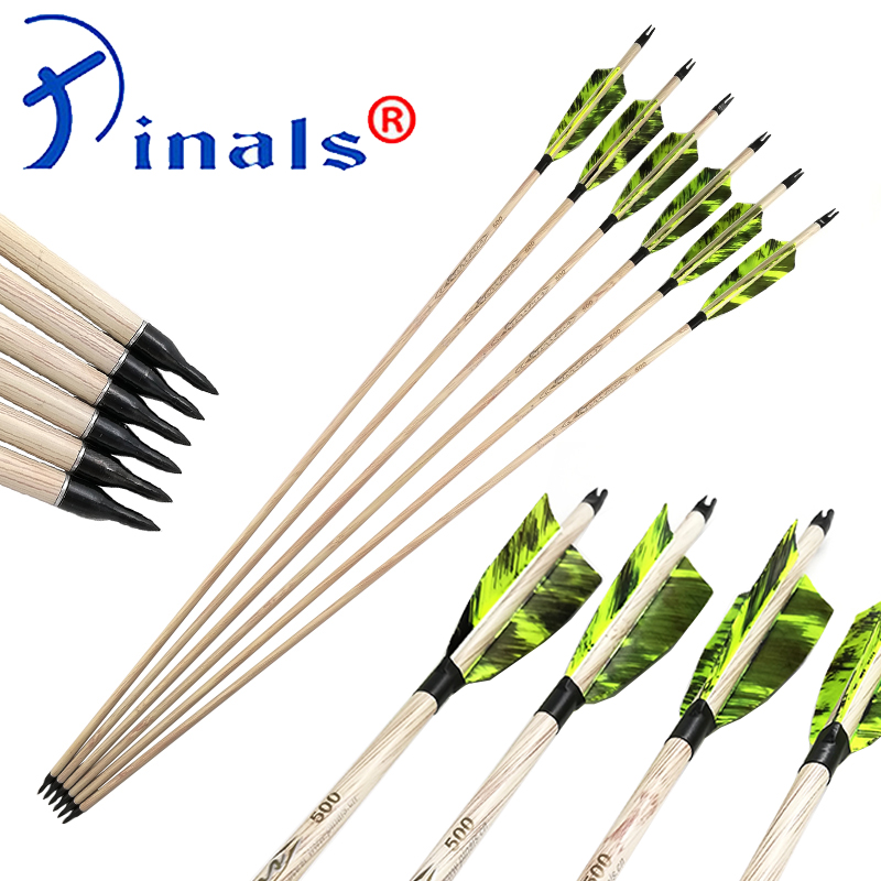 Inals Spine 400 500 600 Carbon Arrows ID6 2mm 4 Turkey Feathers 100gr Points Compound Traditional