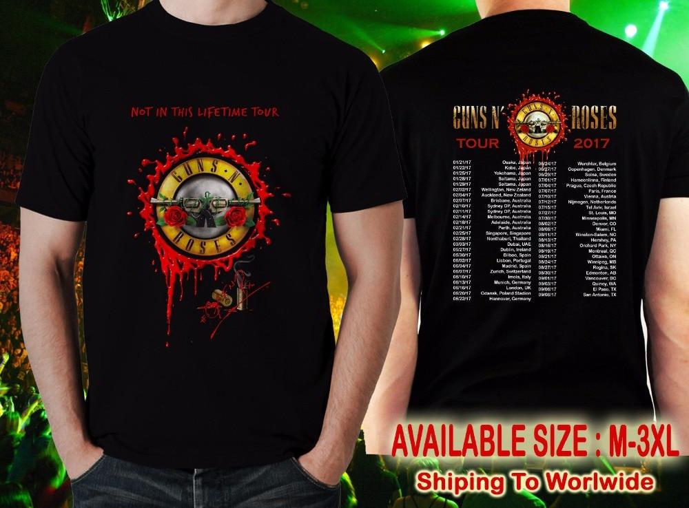 Print Casual T Shirt Brand MenS Short Sleeve Top O-Neck Guns N Roses T Shirt