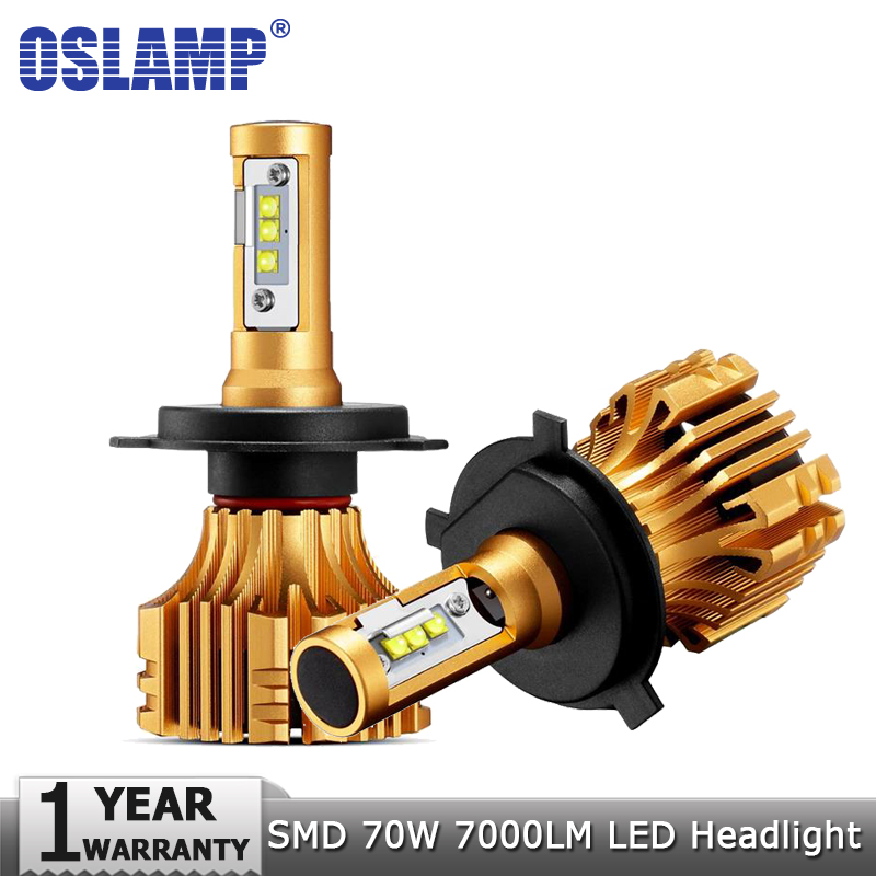 Oslamp H4 H7 H11 H1 H13 9005 9006 Car Lights LED Headlight Bulbs Hi lo Beam 70W 7000LM 6500K 12v 24v Led Auto Headlamp Led Light oslamp h4 h7 led headlight bulb h11 h1 h3 9005 9006 hi lo beam cob smd chip car auto headlamp fog lights 12v 24v 8000lm 6500k