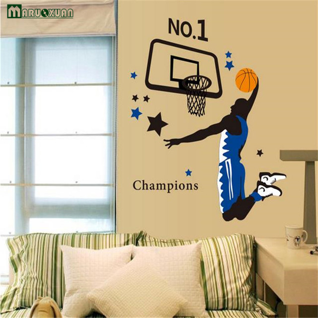 Maruoxuan Play Basketball Mural 3d Wall Sticker For Kids Room ...