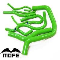 Mofe 100% الأخضر الوردي الأرجواني عالية درجة الحرارة المبرد سيليكون خرطوم المبرد عدة ل B16 سيفيك EK3 B16A B16B