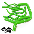 Mofe 100% Green Pink Purple high temp Silicone Coolant Radiator Hose Kit For Honda B16 Civic EK3 B16A B16B