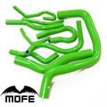 Mofe 100% Green Pink Purple high temp Silicone Coolant Radiator Hose Kit For Honda B16 Civic EK3 B16A B16B
