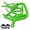 Mofe 100% verde rosa roxo alta temperatura silicone refrigerante radiador mangueira kit para honda b16 cívica ek3 b16a b16b