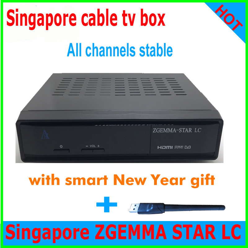 1PCS 2019 Latest starhub box singapore zgemma star LC DVB C Linux timer record 2xUSB pvr