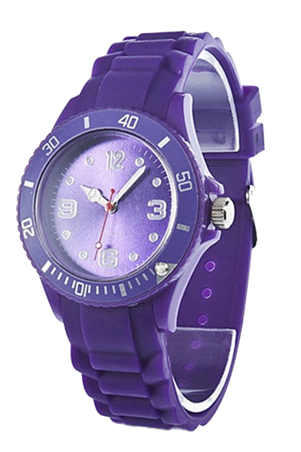YCYS!Classic Stylish Silicon Jelly Strap Womens Wrist Watch (Purple)YCYS!Classic Stylish Silicon Jelly Strap Womens Wrist Watch (Purple)