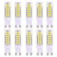 5pcs G9 2835 75LED 6W Lamp corn led Corn Bulbs Bulb High Power 360 Degree Replace Halogen  Spotlight lamp 220V