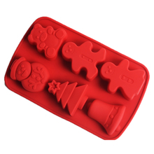 Christmas Soap Mold silicone Snowman Tree Bear Shape Candy Chocolate Mould Handmade Cake Decorating Tools