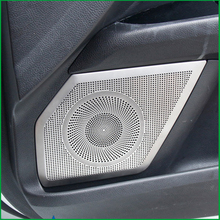 For Ford Mondeo / Fusion Sedan 2013 2014 2015 Stainlsess steel Interior Door Audi Speaker Cover Sticker Molding Trim Car Styling