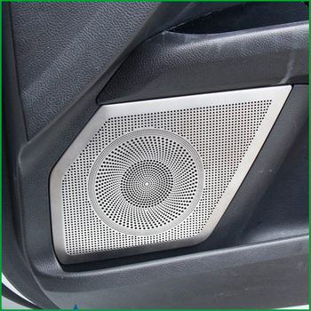 For Ford Mondeo / Fusion Sedan 2013-2015 Stainlsess steel Interior Door Audio Speaker Cover Sticker Molding Trim Car Styling