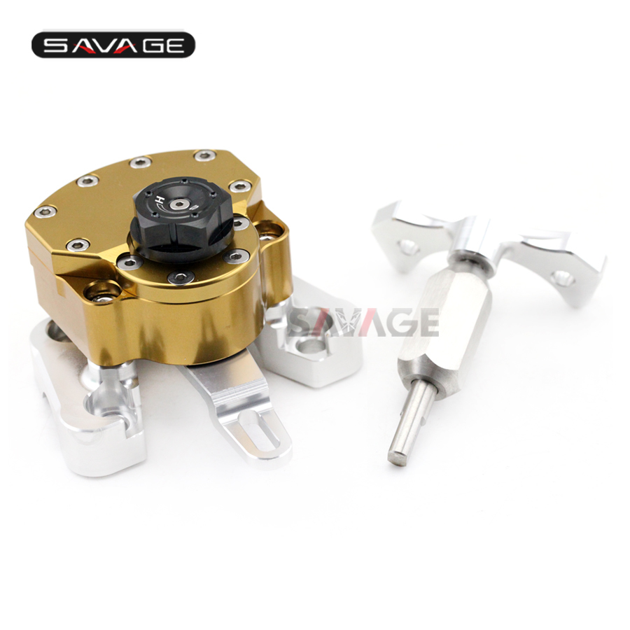 Reversed Safety Steering Damper For DUCATI MONSTER 796/1100/S/EVO Motorcycle Adjustable Stabilizer with Mount Bracket
