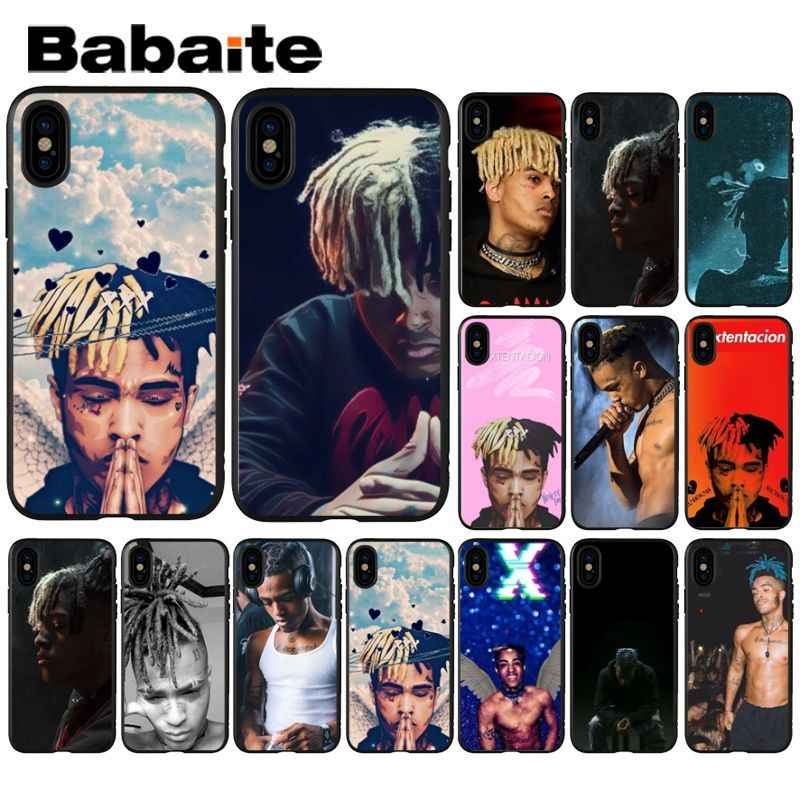 Babaite xxxtentacion 음악 사용자 정의 사진 소프트 폰 케이스 iphone 8 7 6 6 s plus 5 5 s se xr x xs max coque shell