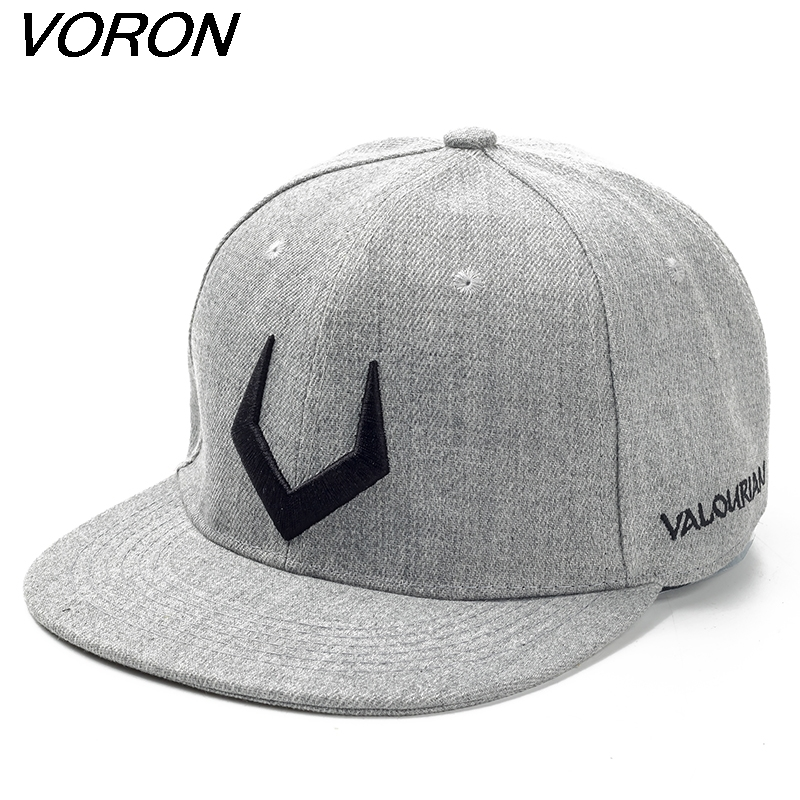 VORON High quality grey wool snapback 3D pierced embroidery hip hop cap flat bill baseball cap for men and women europe and the united states men and women s hip hop witch embroidery knitted wool elastic beanies hat ski cap rx087