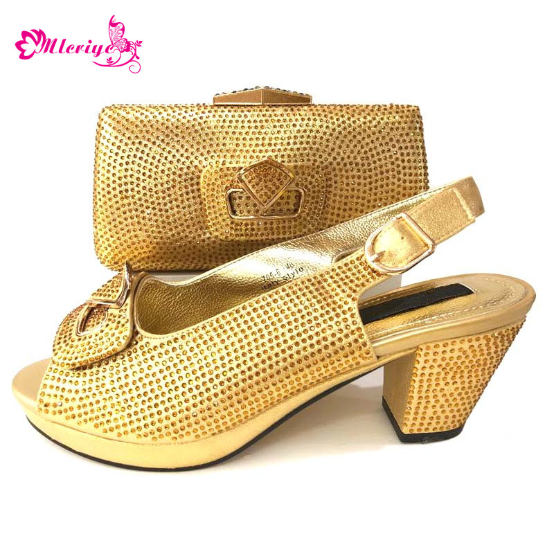 golden African Party Italian Shoes with Matching Bags for Women Italian Ladies Shoe and Bag Set Decorated with Appliques Flowergolden African Party Italian Shoes with Matching Bags for Women Italian Ladies Shoe and Bag Set Decorated with Appliques Flower