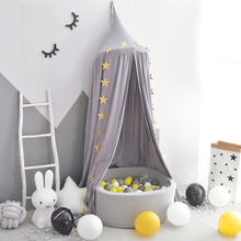 Kids Bedroom Mosquito Net Crib Canopy Baby Bed Curtain Dome Tent Game House Princess Dreamlike Bed Tent with Ocean Ball Pool holycat european style environmental protection cloth baby bed multifunctional children bed game bed with mosquito