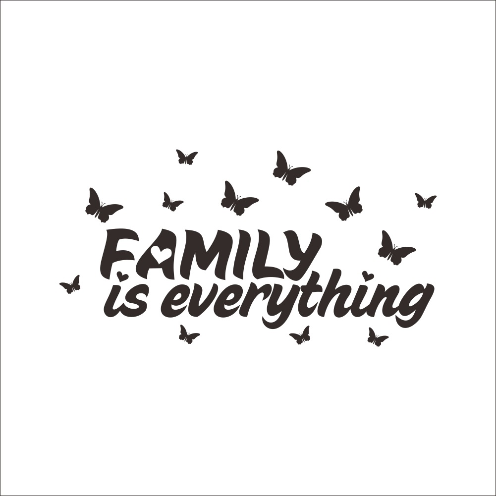 Family Is Everything Quotes Wall Stickers Removable Living Room