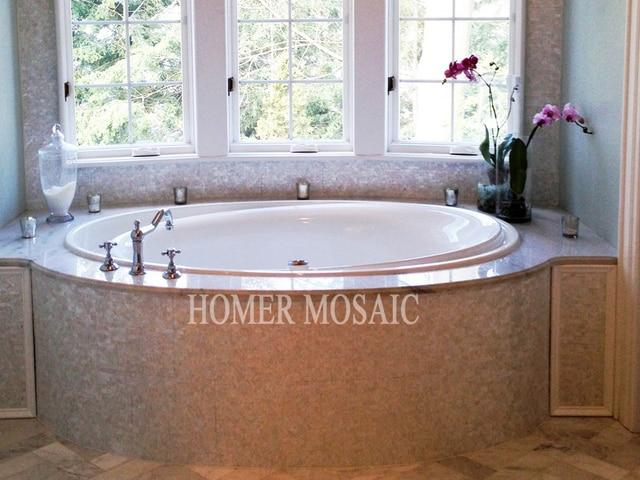 mosaikfliesen wei, perlmutt mosaik bad, Design ideen