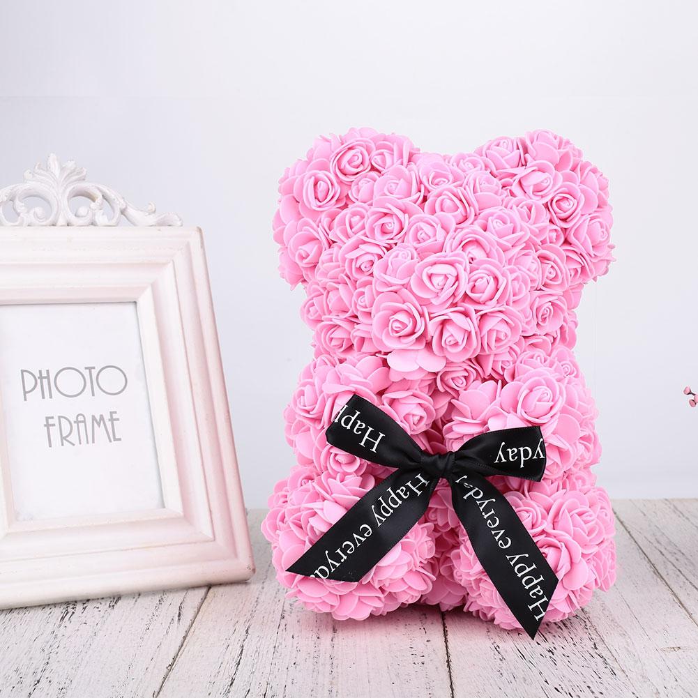 Пена и изображением медведя кукол романтические искусственные розовая игрушка подарок на день рождения Любовь Розовый украшением в виде медведя ко Дню Святого Валентина для Юбилей подруги