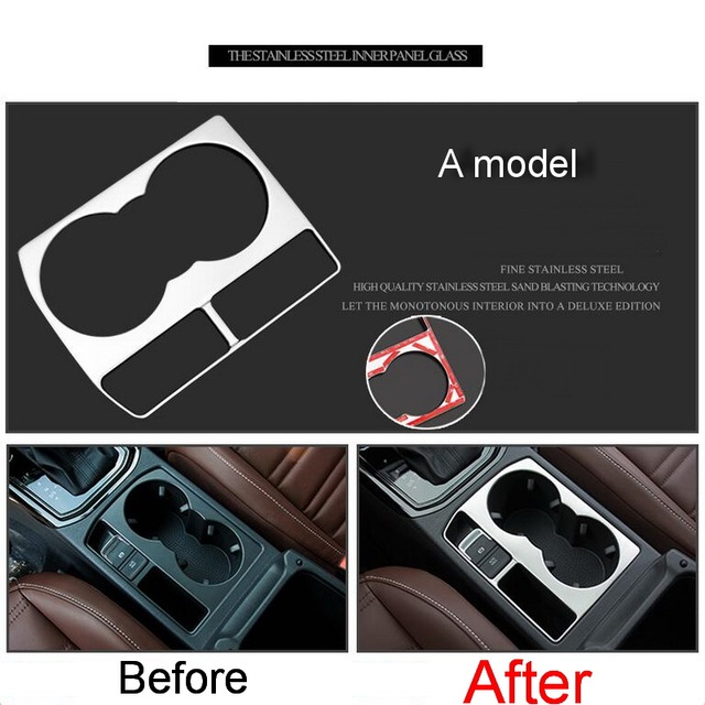 1 PCS Car styling DIY Stainless steel/ABS Central glass bright Stricker Cover Case For Volkswagen vw Touran L 2016 Accessories