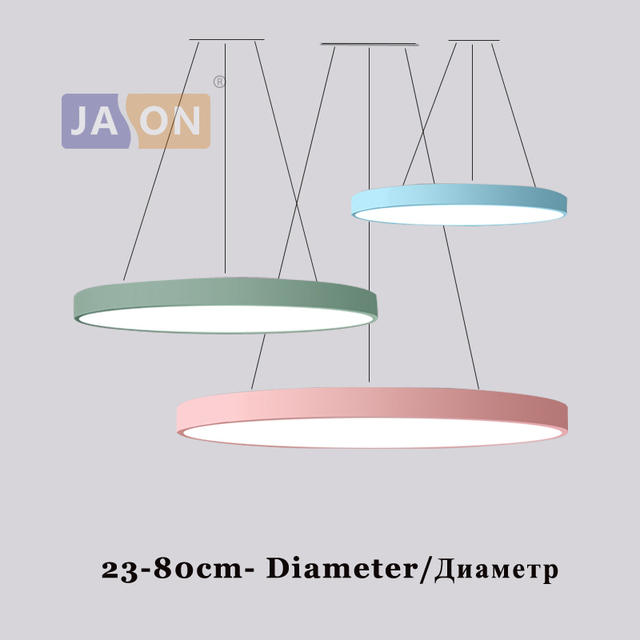 LED Modern Iron Acryl Multicolor Round 5cm Thin LED Lamp LED Light.Pendant Lights.Pendant Lamp.Pendant light For Dinning Room
