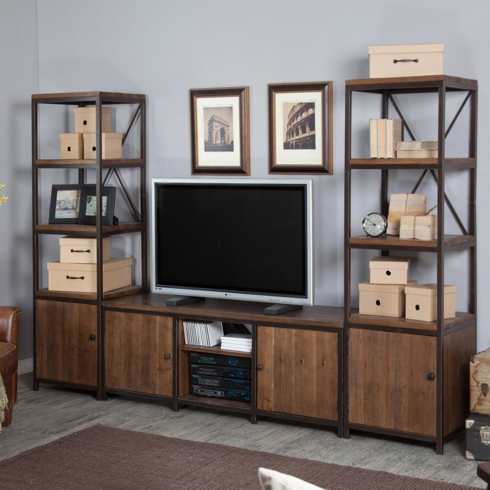 Special American Country Vintage Wrought Iron Wood Tv Cabinet Tv  # Muebles Rack Para Living