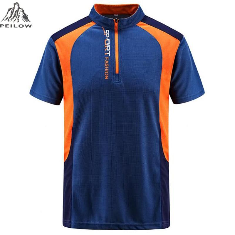 PEILOW big size L~7XL,8XL Brand clothing Men   Polo   Shirt Men Quick-drying sporting   polo   shirt Short Sleeve breathable   polo   shirt